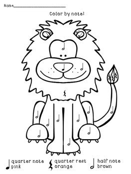 quarter rest coloring page color by note african animals african animals africans
