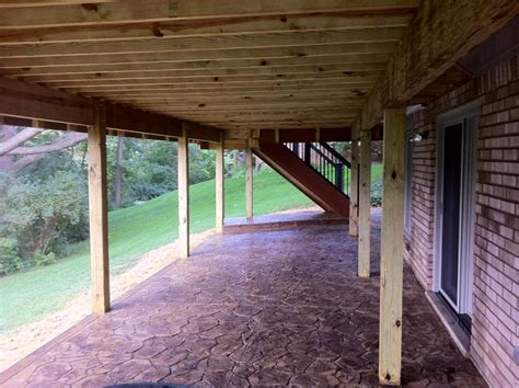 wood deck with underneath walkout rochester mi sted
