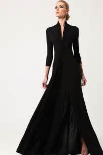 Long black vintage high waistline dress