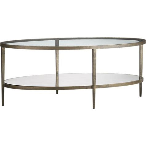 Oval Glass And Metal Coffee Table Clairemont Coffee Table Crate And Barrel
