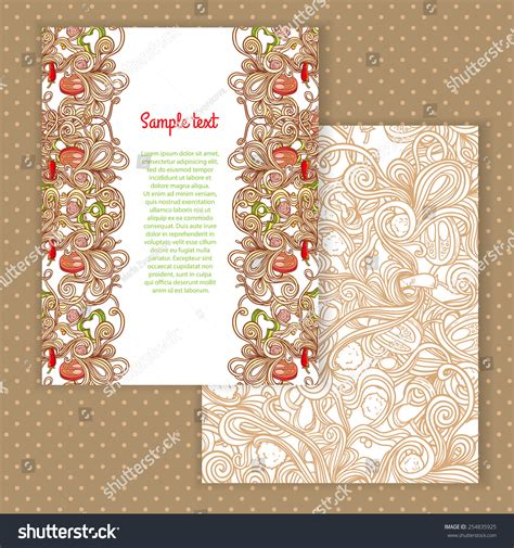 Invitation Letter Pattern Two Invitation Card Design Italian Pasta Stock Vector 254835925