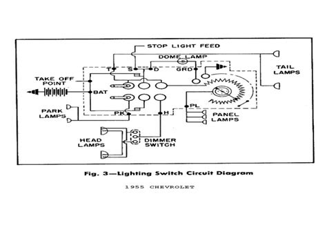 1957 chevy headlight switch wiring diagram 1955