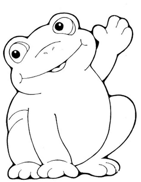 happy frog coloring page june 2009