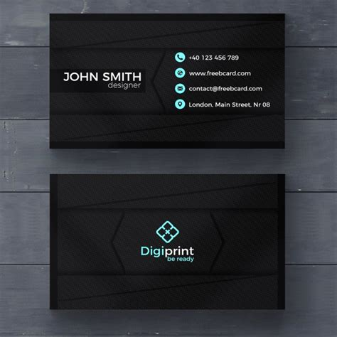 20 professional business card design templates for free