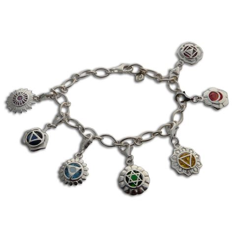 charms and for jewelry seven chakras charm bracelet adjustable charmas