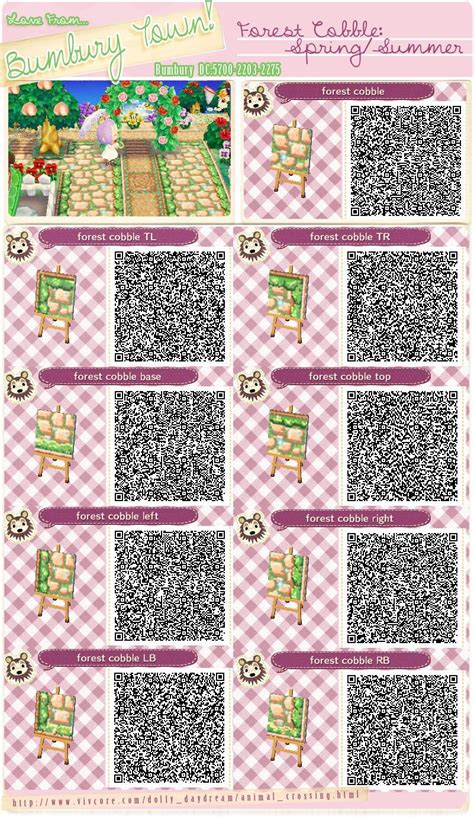 animal crossing pattern qr maker animal crossing new leaf qr codes bumbury lawn forest