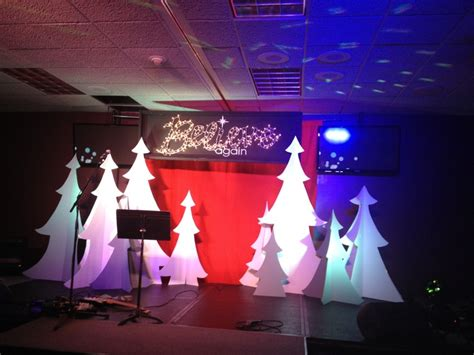 christmas stage decoration believe again series stage set stuff we build and stage set