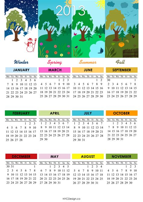 When Calendar Winter Starts New York Web Design Studio New York Ny 2013 Calendar