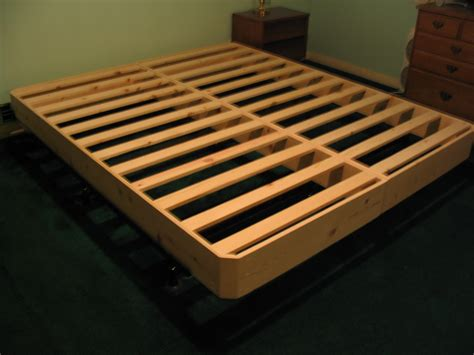 Pine Platform Bed Queen - bed foundation fdgworkshop