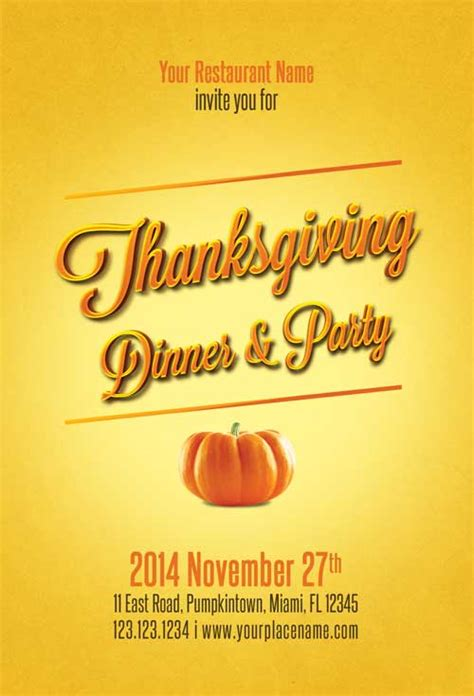 Download Free Thanksgiving Flyer Template Free Printable Thanksgiving Flyer Templates