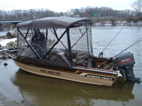 fishing boat enclosures custom covers enclosures tracy s custom riverboats
