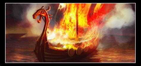 viking longboat on fire viking vire more art and an official synopsis