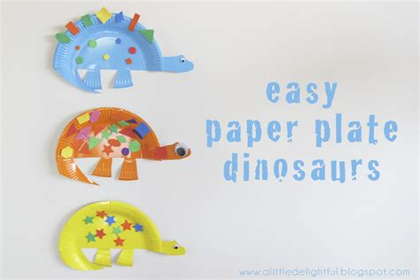 Dinosaur Paper Plate Craft - craft paper plate dinosaurs a delightful