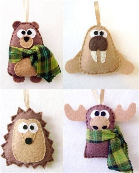 woodland animal ornaments ornahmenthe pinterest