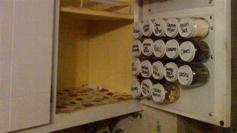diy space saver spice rack diy in cupboard spice rack keeps your kitchen clutter free lifehacker australia
