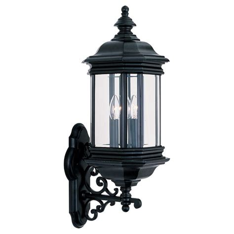 Sea Gull Lighting Fixtures Sea Gull Lighting Harbor Point 1 Light Outdoor Black Wall