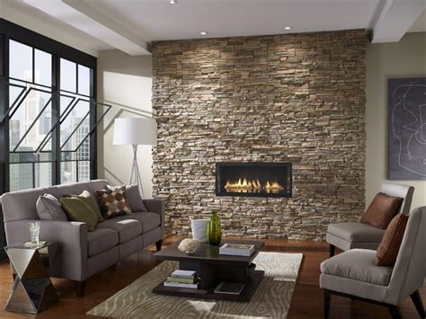 stone wall living room photos hgtv
