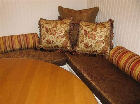 banquette pillows kitchen banquette with cushions and pillows ronica s