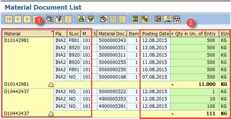 layout view shows a report on the screen sap pp reports tutorial coois mb52 cs15 cs12
