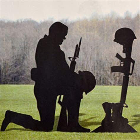 kneeling soldier silhouette plans diy garden