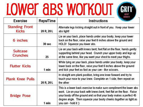 lower ab workouts for at home