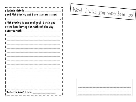 flat stanley template flat stanley s travel journal