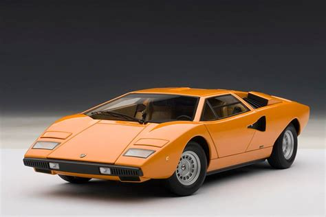 Lamborghini Autoart Autoart Lamborghini Countach Lp400 Orange 74647 In 1