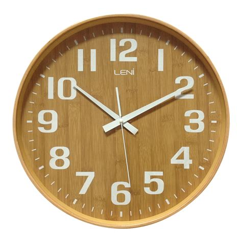 wooden wall clock buy leni bamboo wooden wall clock small wallet purely wall clocks