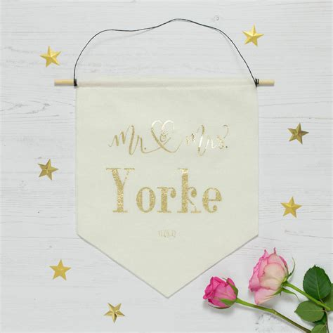 Wedding Banners Personalised by Wedding Day Personalised Banner By Baby Yorke Designs