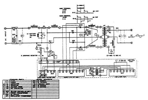 schematic wiring diagram of model a51e dc to ac inverter