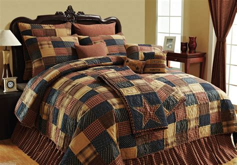 country bedding sets patriotic patch rustic country red blue khaki patchwork