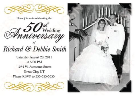 Free 50th Wedding Anniversary Invitation Printable Template 50th Wedding Anniversary Templates