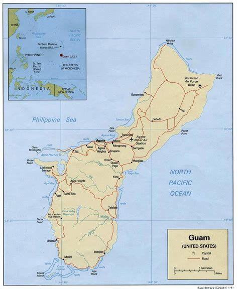 map of guam guam maps printable maps of guam for