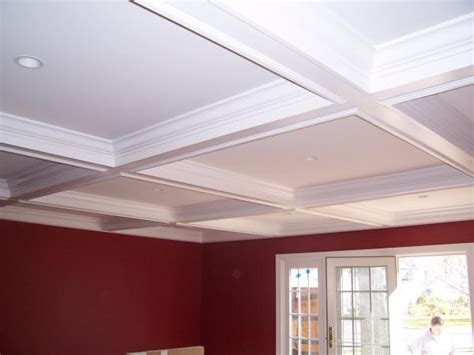 easy coffered ceiling coffered ceiling simple design rustic decor