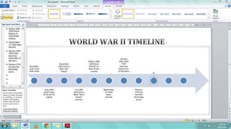 how to make a timeline template microsoft word tasks and activities previously used new