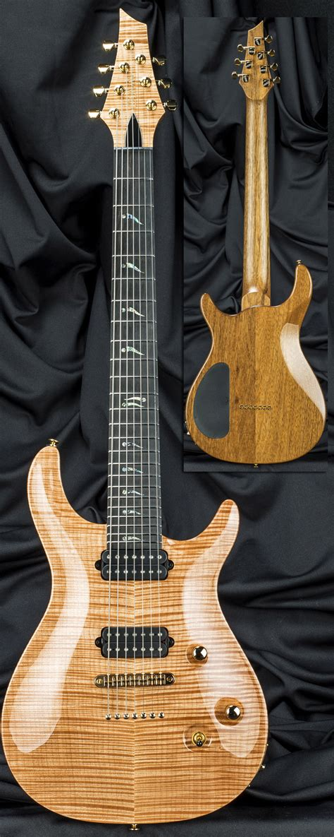 California String - custom shop ct7m 7 string california carved top guitar