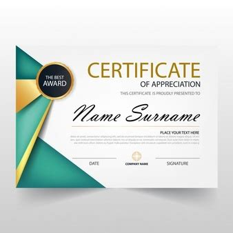 certificate design template cdr award certificate vectors photos and psd files free