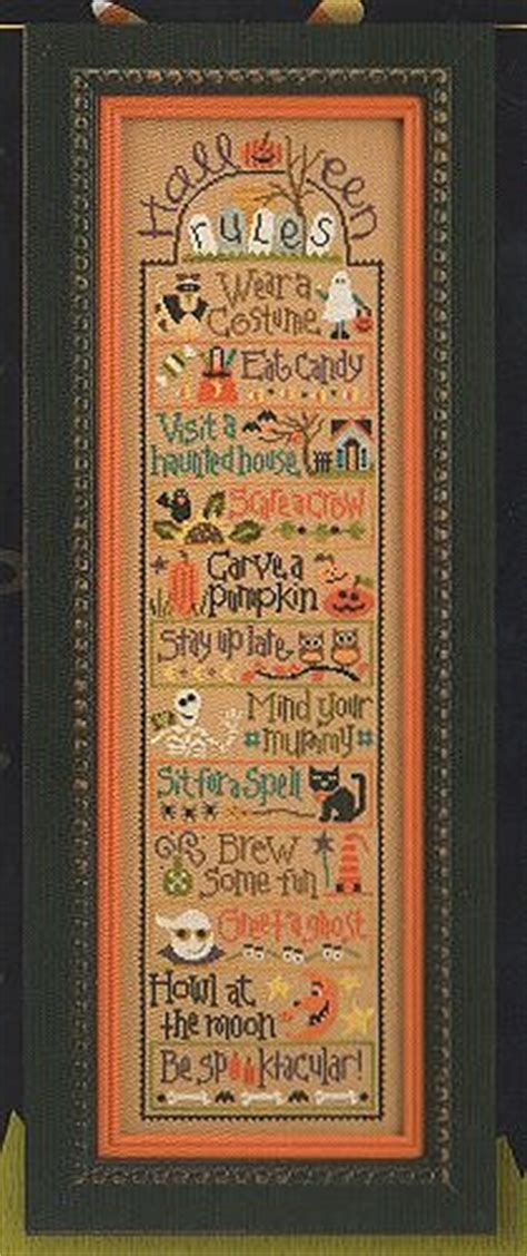 cross stitch pattern house rules lizzie kate halloween rules double flip series howl at