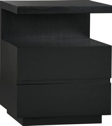 Black Nightstand Dawson Grey Wash Nightstand Black Nightstand Crates And