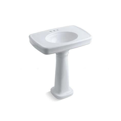 Pedestal Sink And Toilet Combo Kohler Bancroft Pedestal Bathroom Sink Combo With Centers