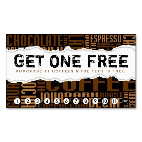 free coffee loyalty card template get one free coffee