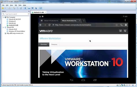 site android experience android kitkat in vmware workstation vmware workstation zealot vmware blogs