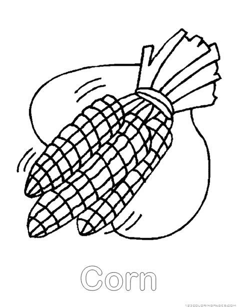 corn coloring pages - Corn Coloring Pages