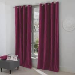 paire de rideaux rideau occultant couleur violet fonce