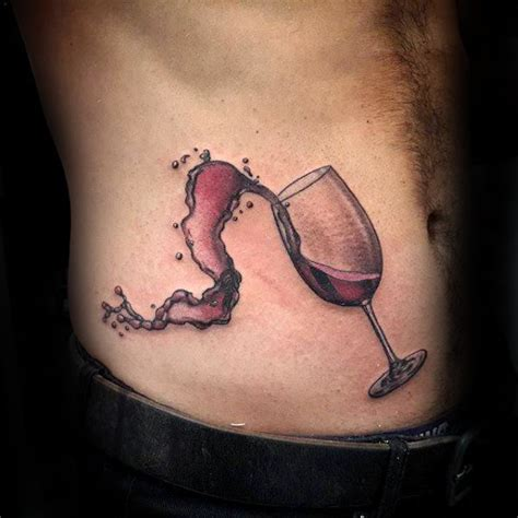 wine tattoo 50 wine designs for vino ink ideas