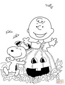 Charlie brown halloween coloring page