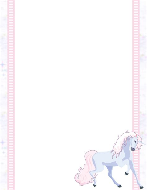 free printable unicorn stationery miscellaneous stationery themes page 1