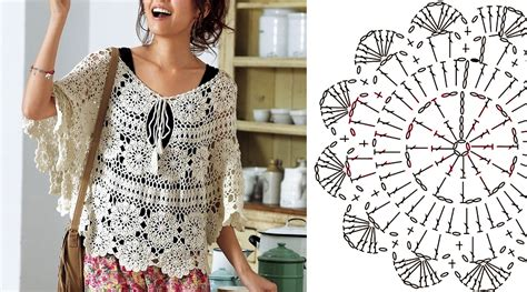 chalinas 2017 tutoriales crochet blouse with graphic and step by step crochet