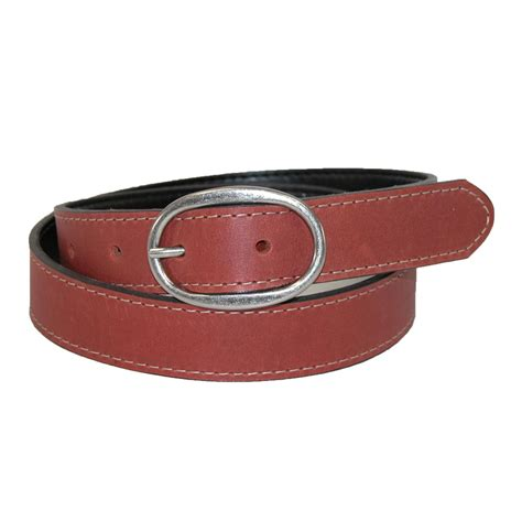 womens sawyer leather reversible bridle belt by woolrich