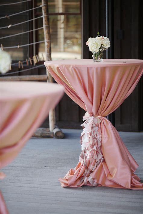 cocktail table sash wedding cocktail hour decor table design linens
